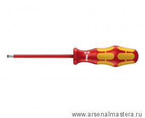 Отвертка диэлектрическая шлицевая WERA Kraftform Plus 160 i VDE, 1.6x8.0x200 мм, 006135
