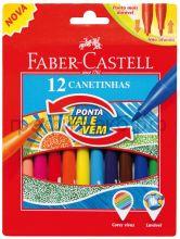 Фломастеры 12цв.Faber-Castell мягкий наконечник 150112