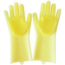 Многофункциональные силиконовые перчатки Magic Brush, Жёлтый