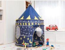Палатка детская игровая «Замок для рыцаря» синий