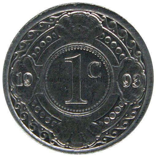 Антильские острова 1 цент 1993 г.