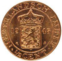 Нидерландская Индия 1/2 цента 1945 г.