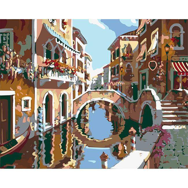 Роспись по холсту В Венеции 40х50см