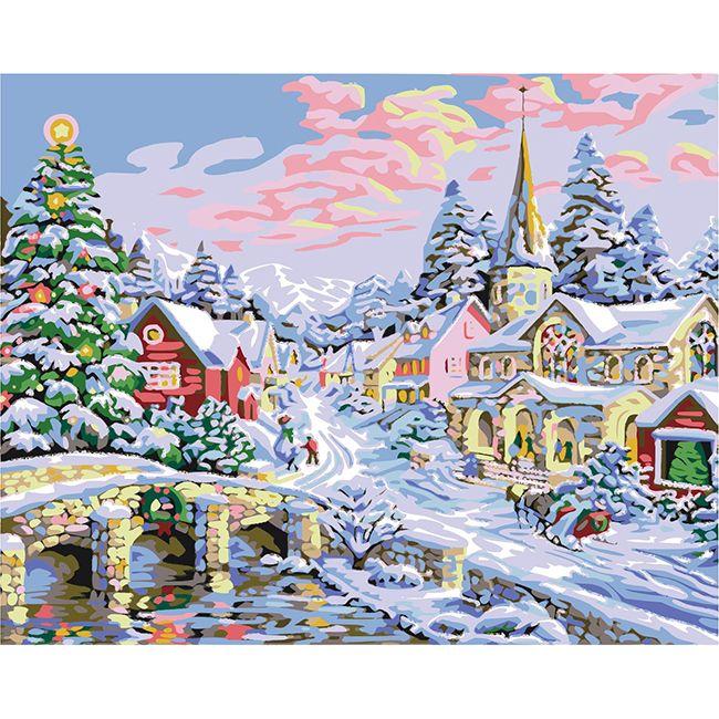 Роспись по холсту Новогоднее настроение 40х50см