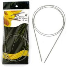 Спицы круговые на тросиках Maxwell Black 80 см арт.#15 1,8мм