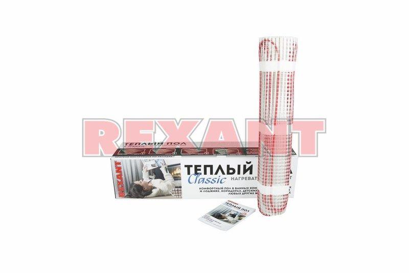 Теплый пол Rexant нагревательный мат 51-0502-2