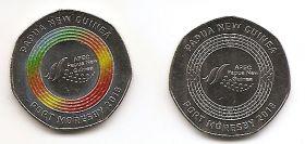 Председательство в АТЭС 50 тойя Папуа - Новая Гвинея 2018 Набор из 2 монет