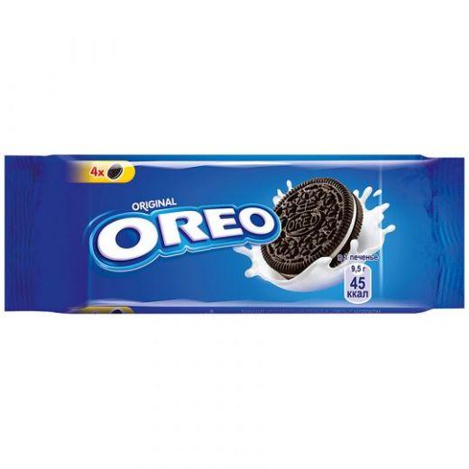 Печенье Oreo с какао и начинкой с ванильным вкусом, 38 г
