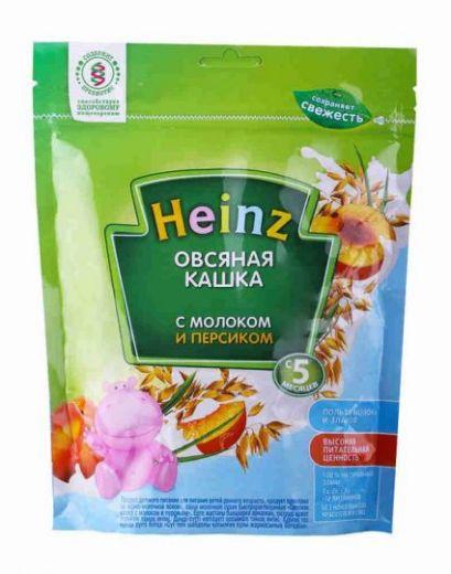 Молочная овсяная с персиком каша Heinz 250 г, с 5 месяцев