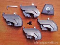 Багажник на интегрированные рейлинги Opel Astra H, универсал, Евродеталь, аэродинамические дуги