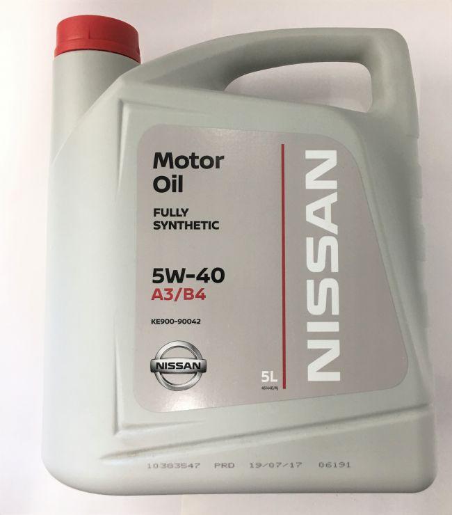 Масло моторное Nissan 5W-40 5 л  KE9009-0042