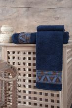 Полотенце махровое GIZA (синее) 50*90 Арт.3193-1