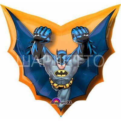"""Шар фигура """"Бэтмен в полете"""""""