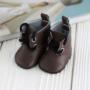 Обувь для кукол - сапоги 5 см (темно-коричневые)