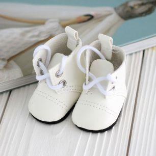 Обувь для кукол - сапоги 5 см (белые)