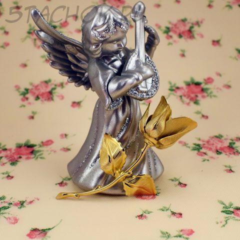 "Брошь ""Роза"" цвет золота (Giovanni США)"