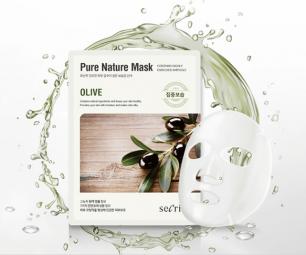 """""""АН"""" Secriss Pure Nature Mask Pack-Olive Маска для лица тканевая  25мл"""