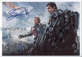 Автографы: Том Круз, Эмили Блант. Грань будущего