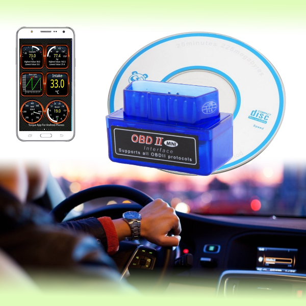Диагностический адаптер (автосканер) ELM327 mini Bluetooth OBD II - версия 2.1