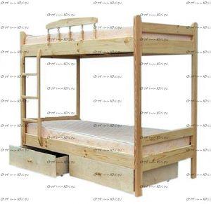 Кровать двухъярусная 42994
