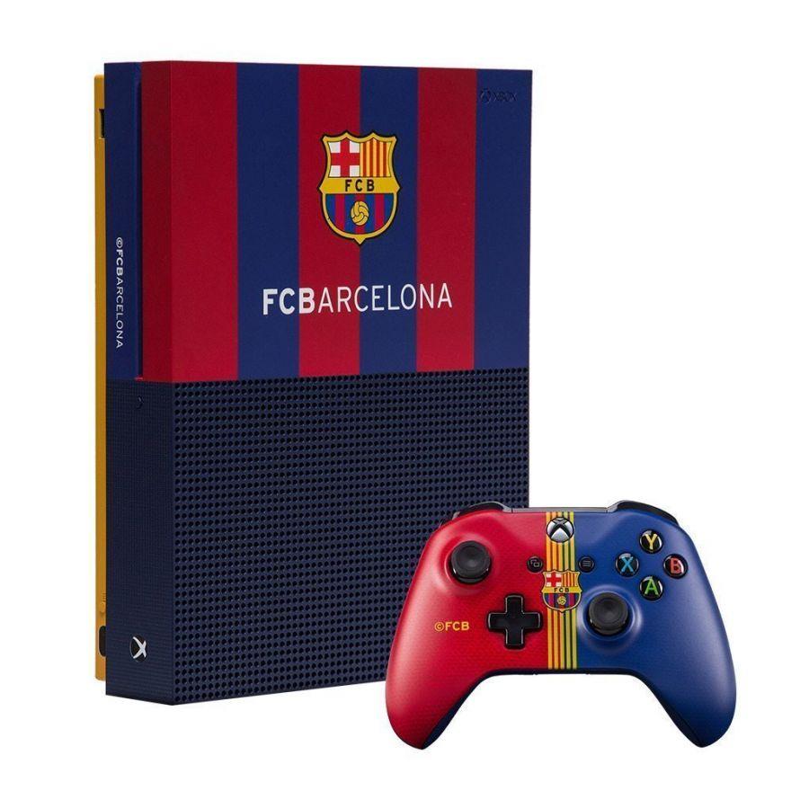 """Игровая приставка Microsoft Xbox One S 1 TB Барселона """"Камп Ноу"""""""