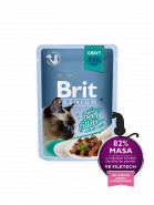 Brit Premium Cat Pouch with Beef Fillets in Gravy for Adult Cats КУСОЧКИ ИЗ ФИЛЕ ГОВЯДИНЫ В СОУСЕ (85гр)
