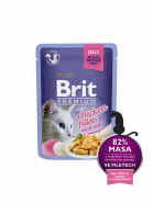 Brit Premium Cat Pouch with Chicken Fillets in Jelly for Adult Cats КУСОЧКИ ИЗ КУРИНОГО ФИЛЕ В ЖЕЛЕ  (85гр)