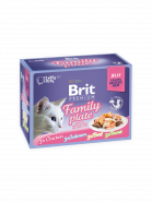 Brit Premium Cat Pouch Family Plate Jelly  ПОЛНОЦЕННЫЙ ВЛАЖНЫЙ КОРМ  ДЛЯ ВЗРОСЛЫХ КОШЕК (12x85гр)
