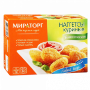 Naggetsi toyuq Miratorg Klassik 300 gr.