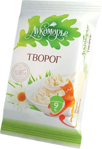 Творог  Лукоморье фольга 0,180 Жирность 9%