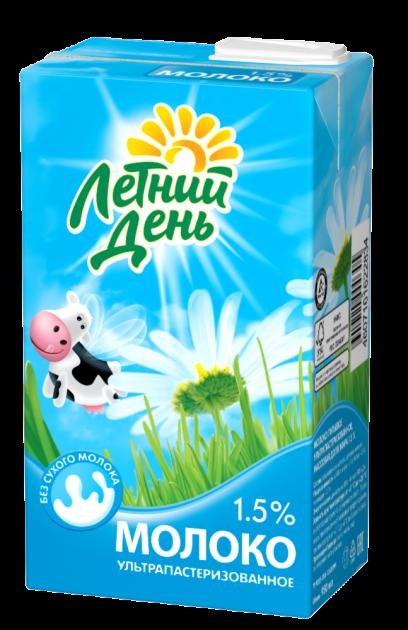 Молоко Летний День ультрапаст  0.95 Жирность 1,5%