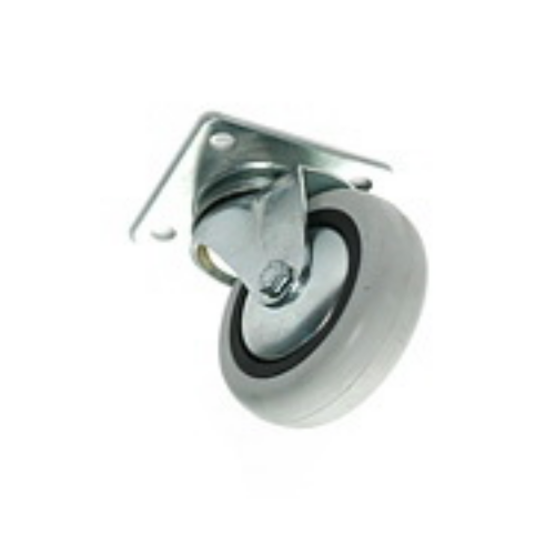 Опора колесная D 75мм, белая резина, нагрузка 50 кг (351)