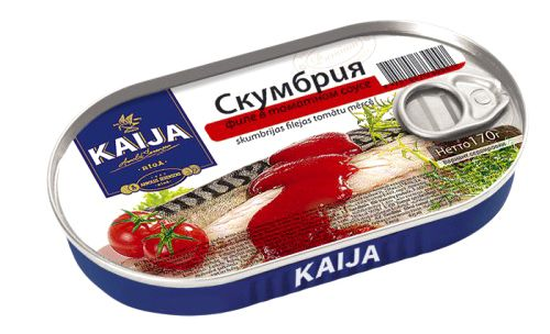 Скумбрия филе в томатном соусе Kaija 170 г