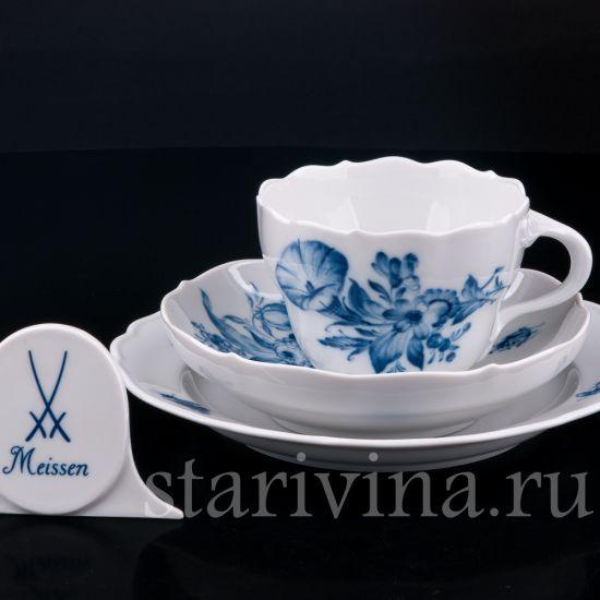 Изображение Чайное трио, Meissen, Германия, сер.  20 века.