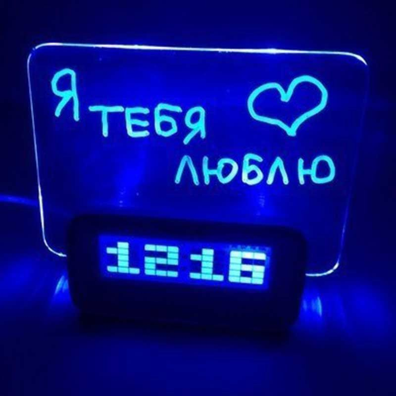 Часы Электронные Highstar HSD1140A LED C Панелью Для Рисования, Цвет Подсветки Голубой