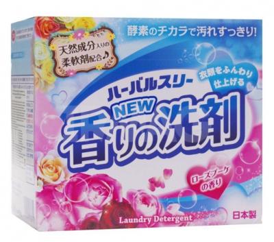 Mitsuei Herbal Three Стиральный порошок Сила ферментов со смягчающим эффектом, нежный аромат розы 850гр