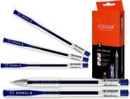 Ручка гелевая, 0,5мм, синие чернила, прозрачный корпус (арт. TZ 118с)