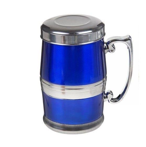 Стальная термокружка Green Tea Stainless Steel Wear, 380 мл, цвет синий