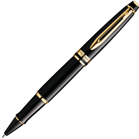 Waterman Expert - Black GT, ручка-роллер, F, BL