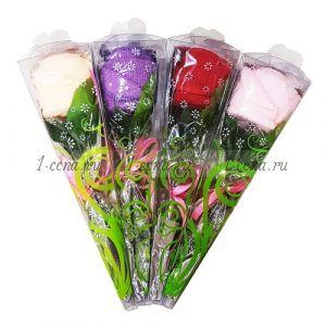 Подарочный цветок-полотенце  в ассортименте упаковка 20х7см.