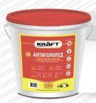 Антигололед KRAFT ведро 8 кг.