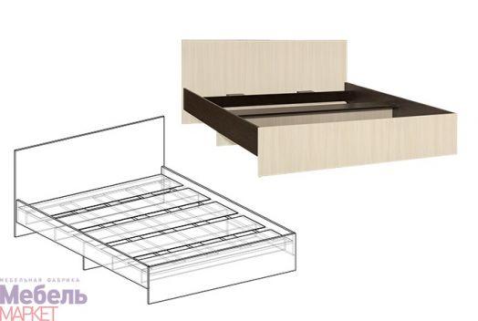 Спальня Светлана - Кровать с прямой спинкой 900 (венге/дуб)