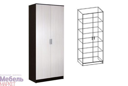 Спальня Светлана - Шкаф 2-х створчатый бельевой (венге/дуб)