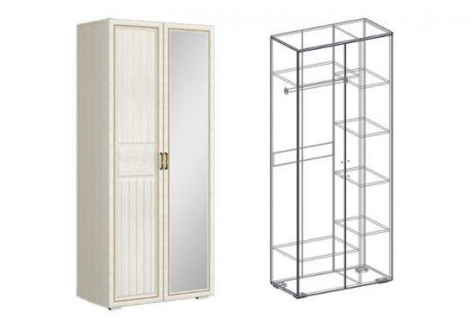 """Шкаф 2х-створчатый комбинированный левый/правый (440) """"Виктория"""""""