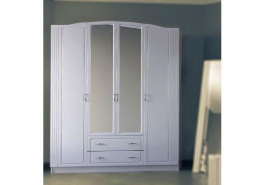 """Шкаф 4-х створчатый с зеркалом """"Евгения"""""""