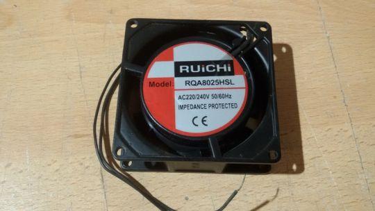 Осевой вентилятор 80 х 80 х 25 мм 220 Вольт