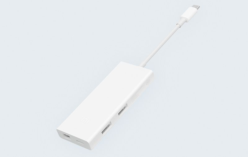 Адаптер Xiaomi Type-C to USB-A + USB-C + Mini Display Port Converter
