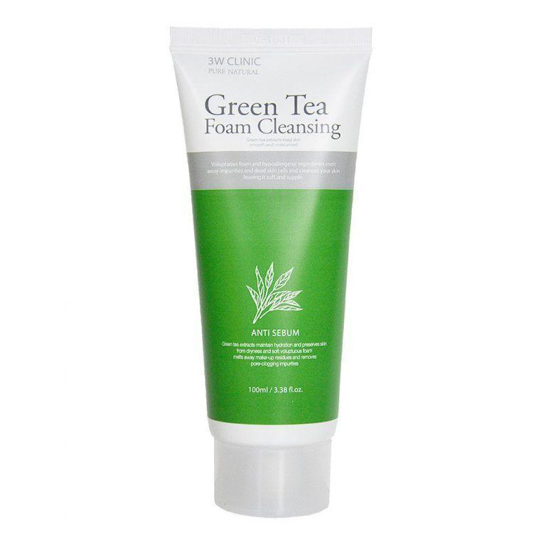 [3W CLINIC] Пенка для умывания ЗЕЛЕНЫЙ ЧАЙ Green Tea Foam Cleansing, 100 мл