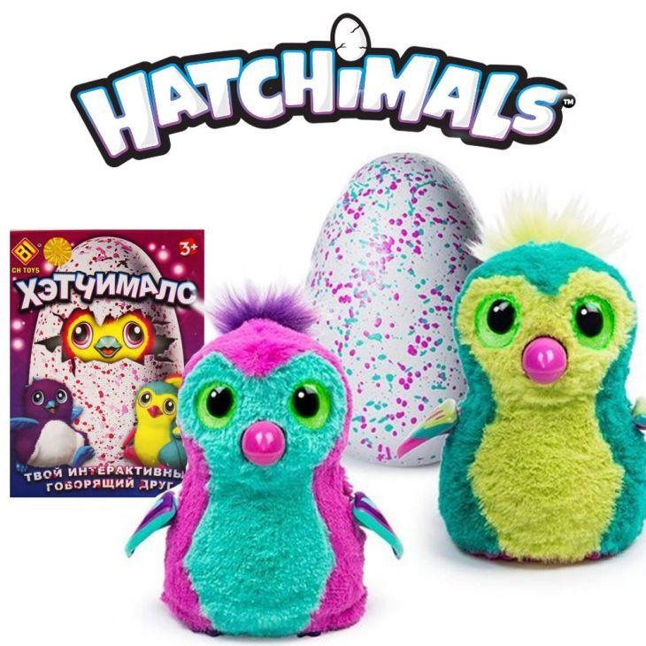 Интерактивная игрушка пингвинчик Hatchimals (хетчималс) питомец, вылупляющийся из яйца