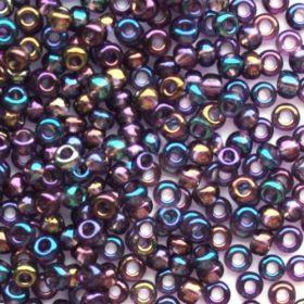 Бисер чешский 21060 фиолетовый прозрачный радужный Preciosa 1 сорт